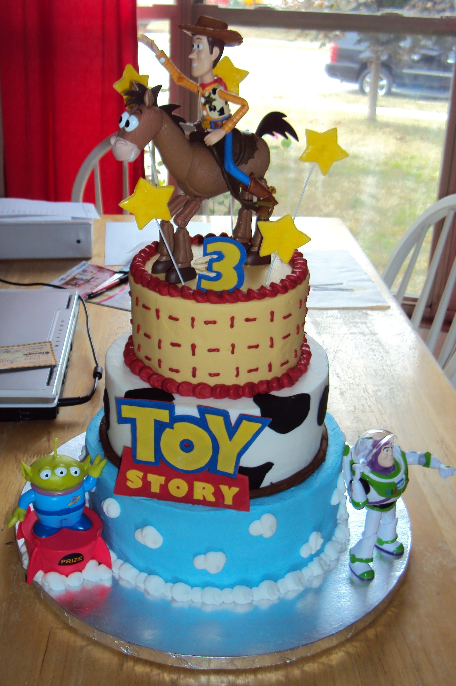 Enjoyable Toy Story Cakes Decoration Ideas Little Birthday Cakes Personalised Birthday Cards Rectzonderlifede