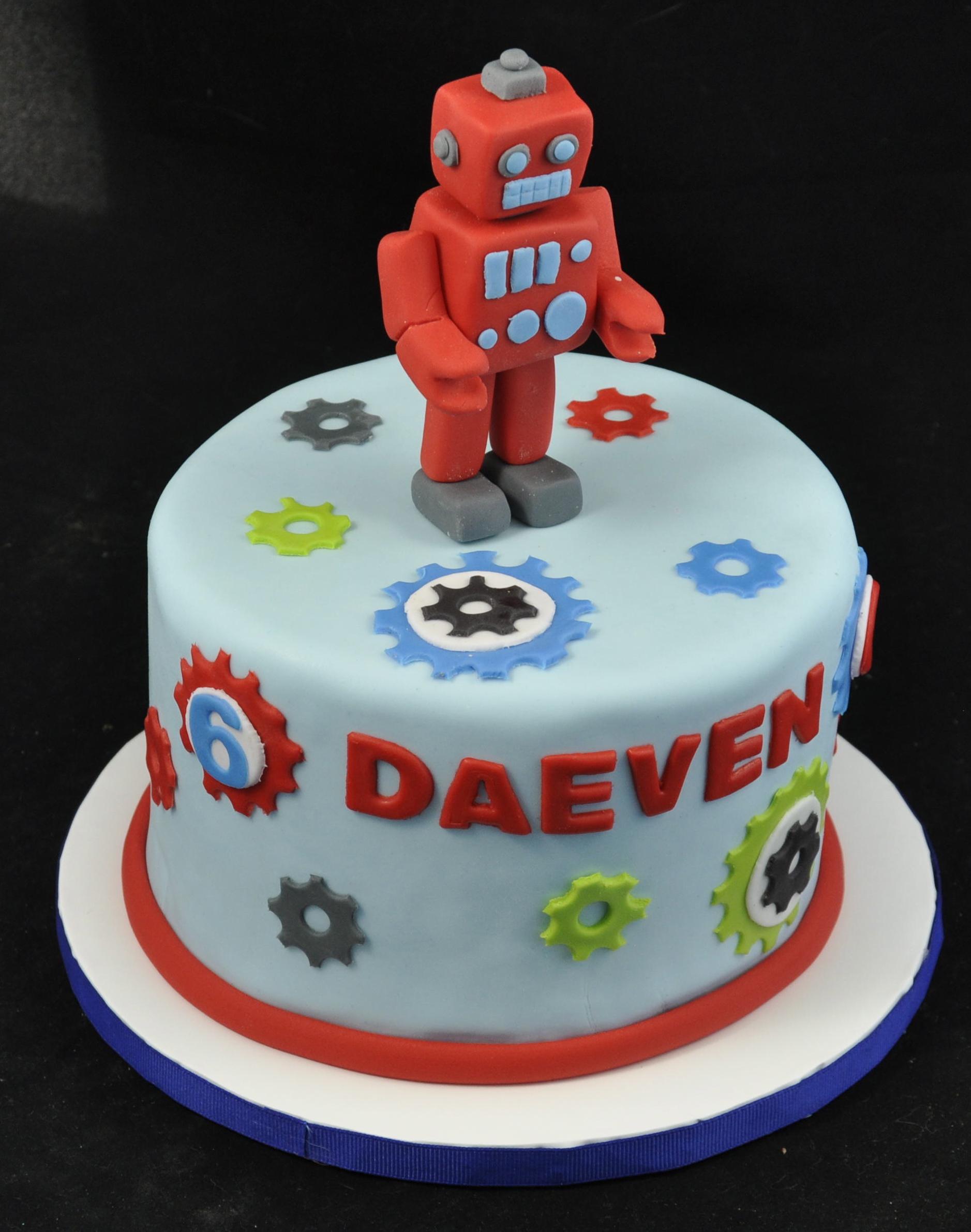 Astonishing Robot Cake Decoration Ideas Little Birthday Cakes Funny Birthday Cards Online Alyptdamsfinfo