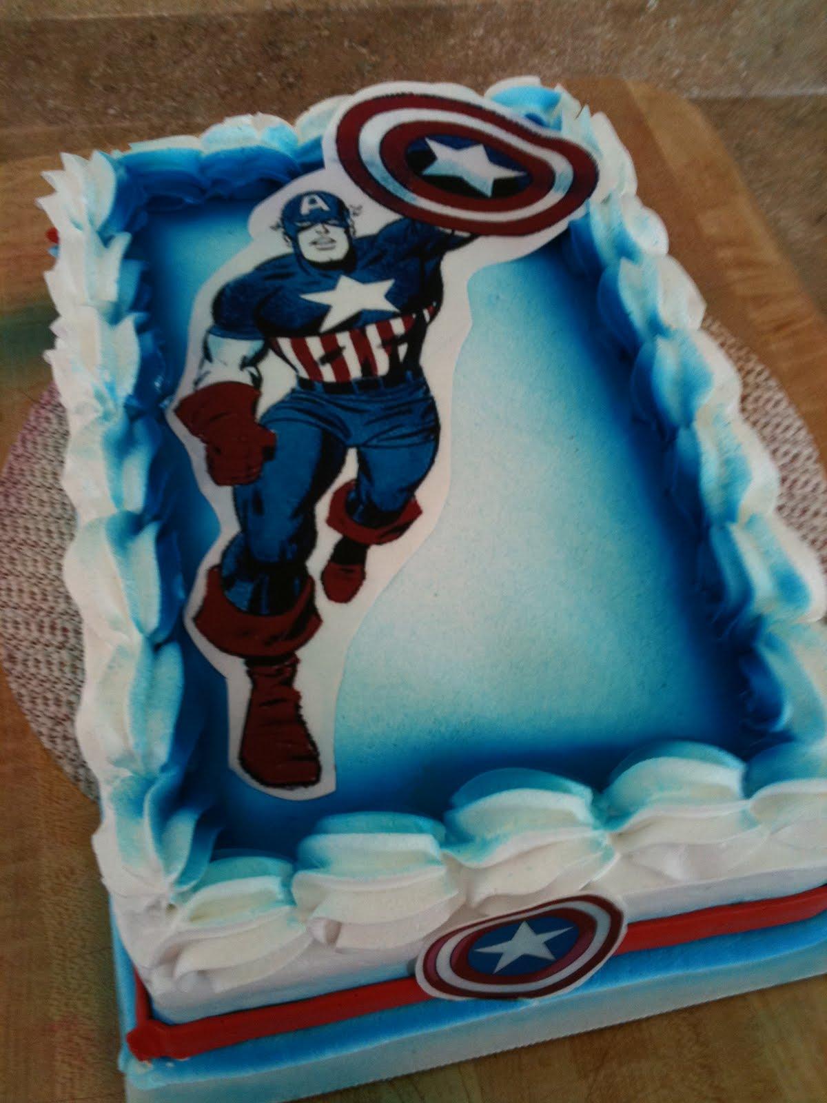 Admirable Captain America Cakes Decoration Ideas Little Birthday Cakes Funny Birthday Cards Online Alyptdamsfinfo