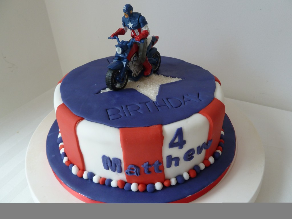 Captain America Birthday Cakes Designs