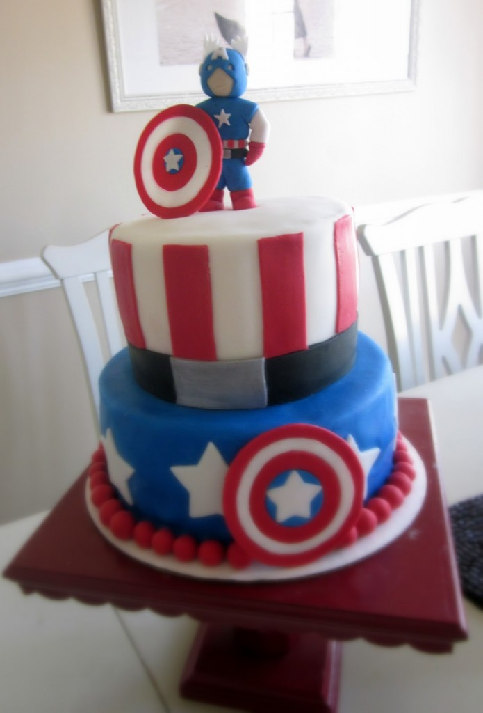 Captain America Cake Topper