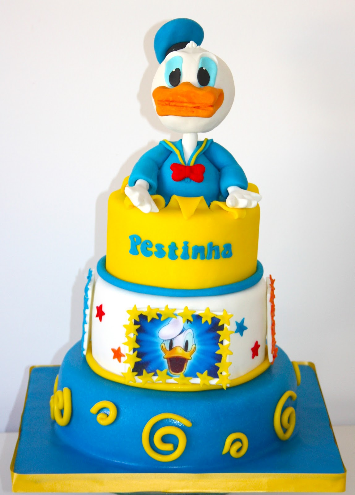Awesome Donald Duck Cakes Decoration Ideas Little Birthday Cakes Funny Birthday Cards Online Elaedamsfinfo