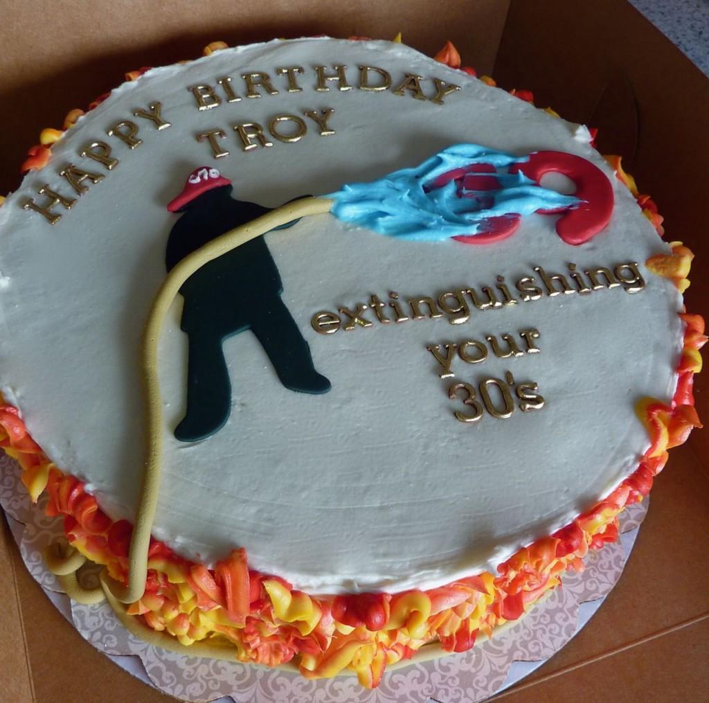 Fireman Birthday Cake