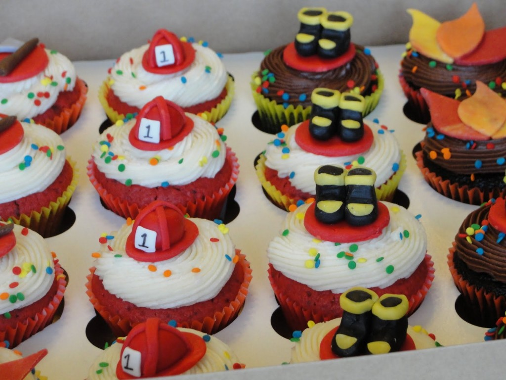 Fireman Cupcake Cakes