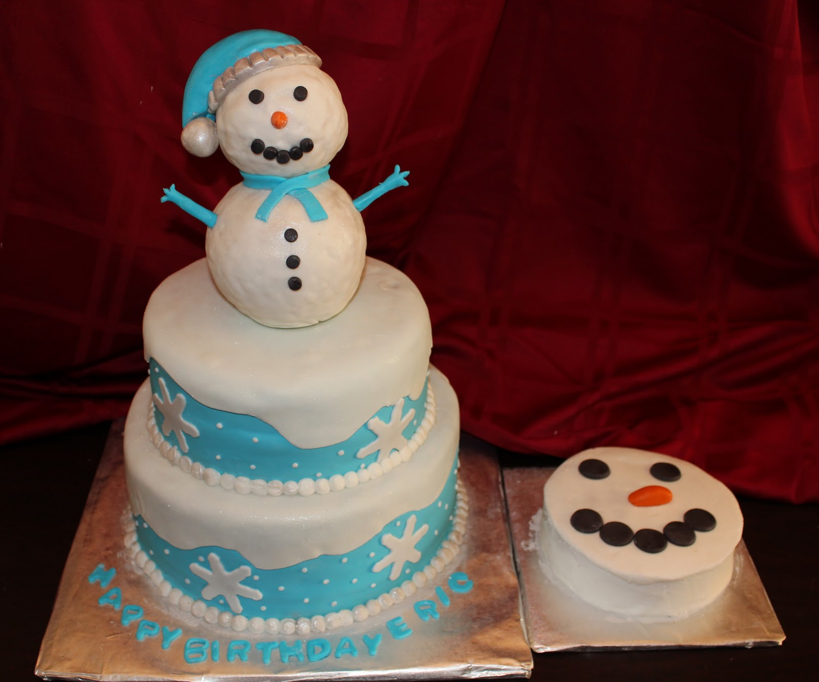 Admirable Snowman Cakes Decoration Ideas Little Birthday Cakes Personalised Birthday Cards Petedlily Jamesorg