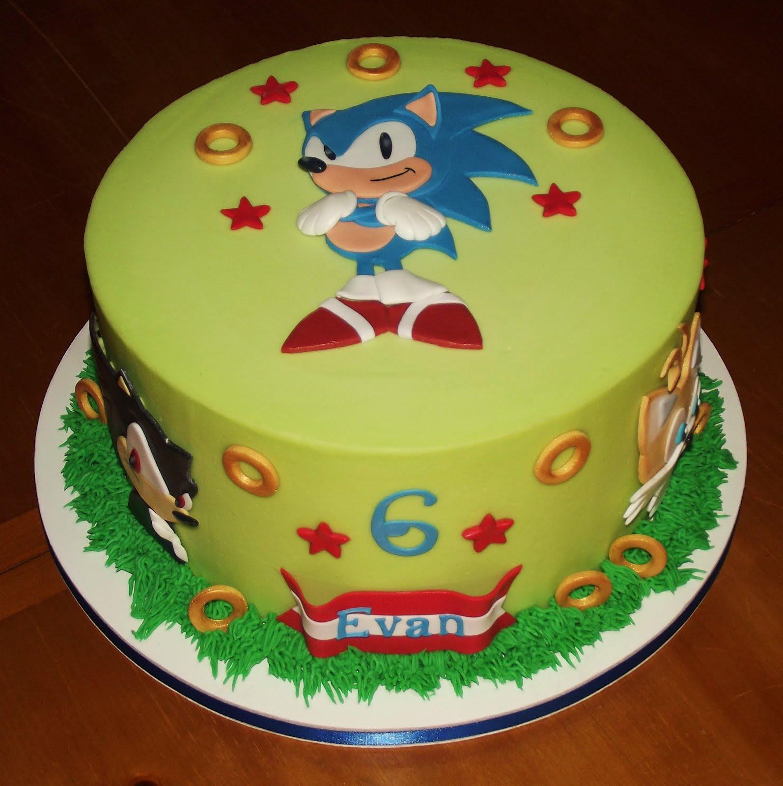 Astonishing Sonic Cakes Decoration Ideas Little Birthday Cakes Personalised Birthday Cards Veneteletsinfo