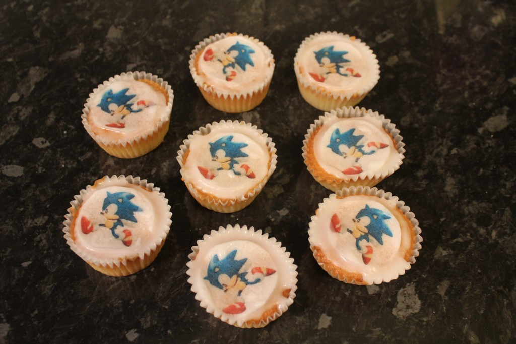 Sonic Cupcake Cakes