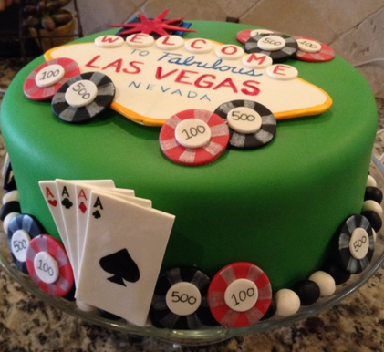 Stupendous Las Vegas Cakes Decoration Ideas Little Birthday Cakes Funny Birthday Cards Online Fluifree Goldxyz