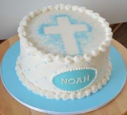 baptism circle cake