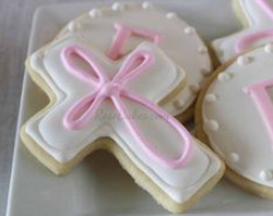 baptism cross cakes