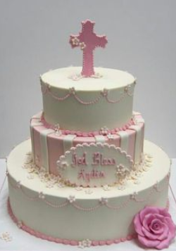 ideas baptism cake