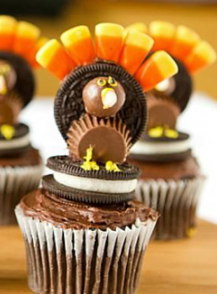Chocolate turkey cakes
