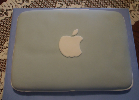 apple laptop cake