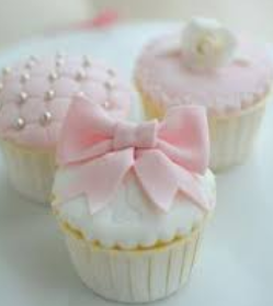 baby shower bow cupcakes for girls