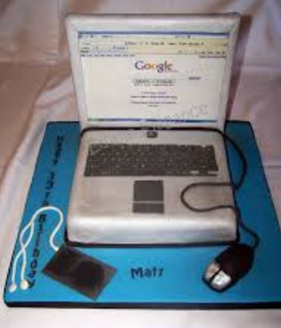 big laptop cake