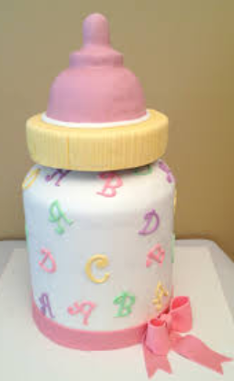 bottle baby shower cakes for girls