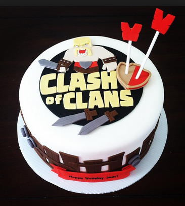 clash of clan cake arrow