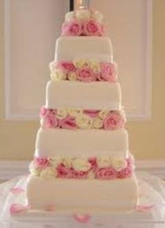 elegant roses wedding cakes