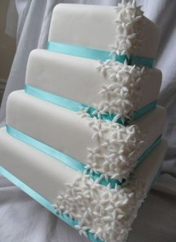 elegant star wedding cakes