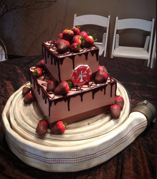 fireman strawberry cake