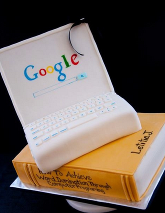 google laptop cakes
