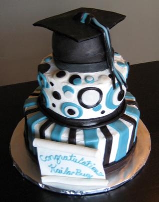 graduation hat cakes