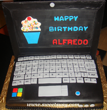 laptop cakes ideas