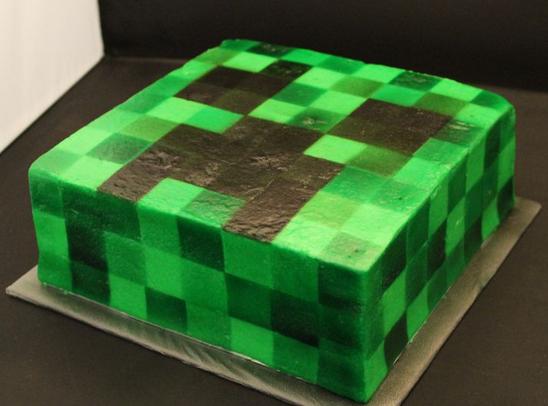minecraft cake design