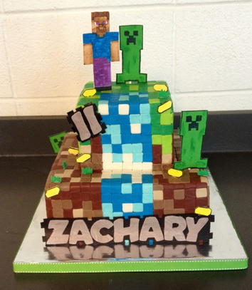 minecraft tower cake