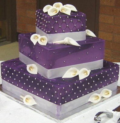 purple wedding cakes tower