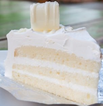 white chocolate cake slice candy