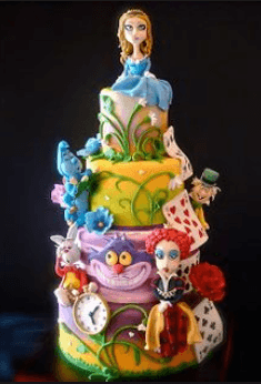 Alice in wonderland cake character decorations