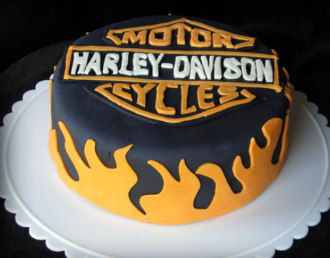 Harley Davidson cake decorations idea