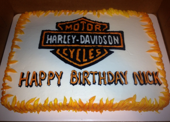 Harley Davidson decorations cake