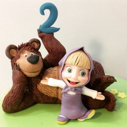 masha and the bear birthday cake decoration