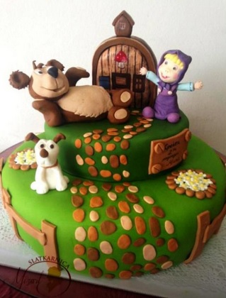 masha and the bear cakes
