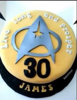 star trek badge cakes