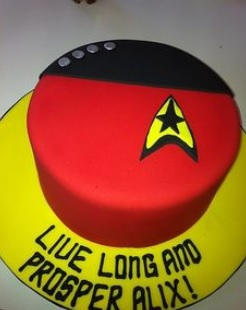 star trek cake decoration