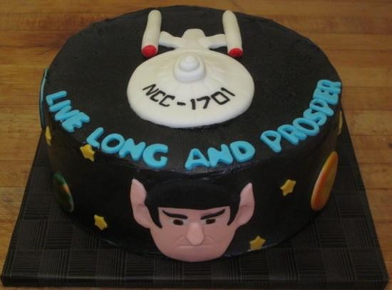 star trek spock cake